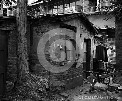 Ruins of buildings Editorial Stock Photo