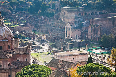 Ruins on Capitoline Hill in Rome