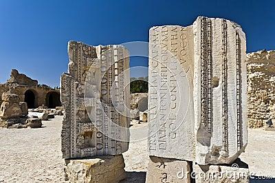 Ruins of Carthage, Roman alphabet