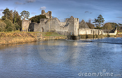 Ruins of castle in Adare - HDR.