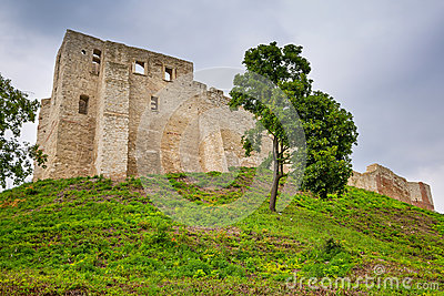 Ruins of the castle in Kazimierz Dolny