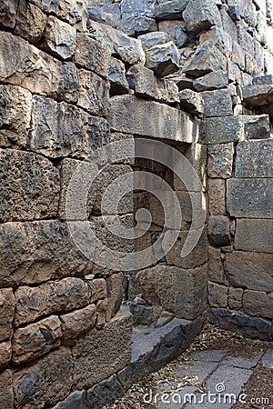 Ruins of the church at Gamla, Israel
