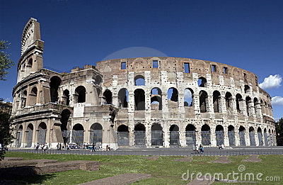 Ruins of The Colosseum in Rome - Italy