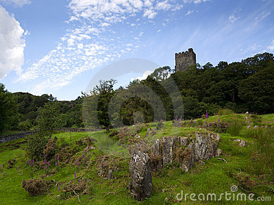 Ruins of Dolwyddelan castle, North Wales