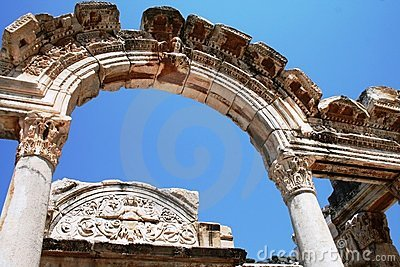 The ruins of Ephesus Turkey