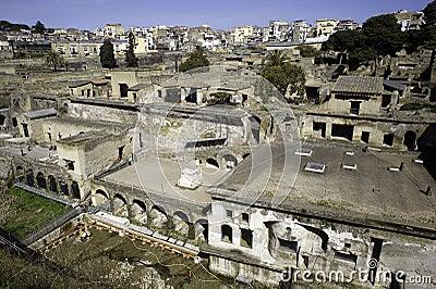 The ruins of Ercolano Editorial Photo