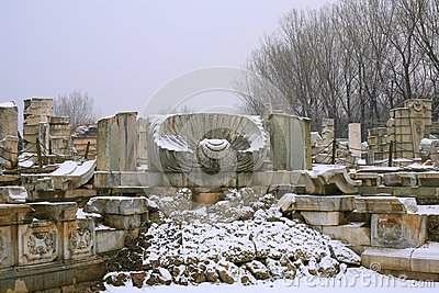 The Ruins of the European palaces in The Old Summe