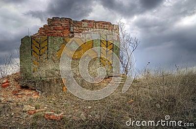 Ruins of ex USSR symbol