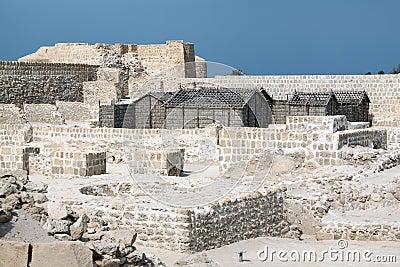 Ruins in fort Bahrein
