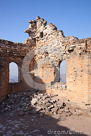 The ruins of the Great Wall