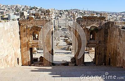Ruins of Greco-Roman city Gerasa. Jordan