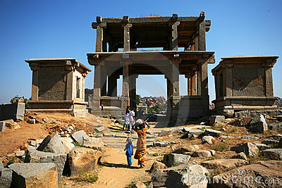 Ruins of Hampi, india Editorial Stock Photo