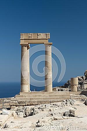 Ruins of Hellenistic stoa