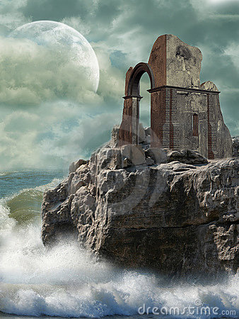 Free Ruins In The Sea Stock Images - 6797904