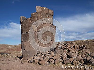 Ruins of Inca tower