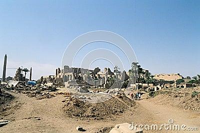 Ruins of Karnak Temple.