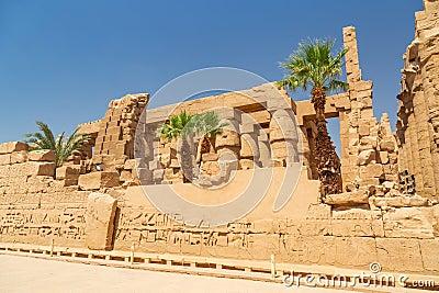 Ruins of Karnak temple in Luxor, Egypt