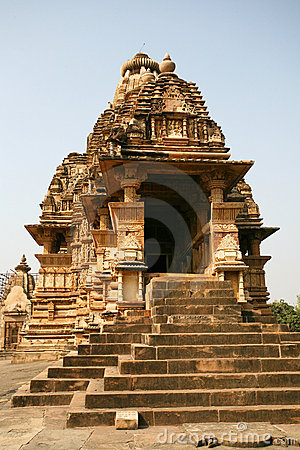 Ruins Khajuraho temple, india