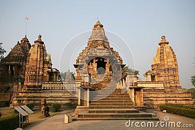 Ruins Khajuraho temple, india