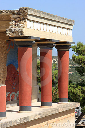 The ruins at Knossos
