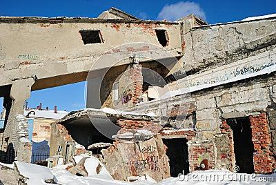 Ruins of the last century.