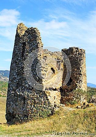 Ruins of Little chapel near Jvari church