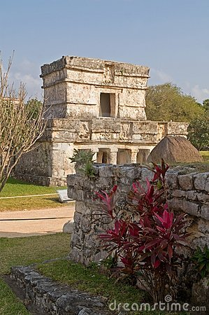 Ruins at the Mayan site of Tulum, Mexico