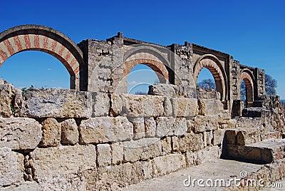Moorish arches, Medina Azahara, Spain.