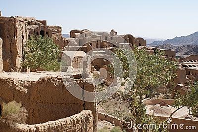 Ruins of mud city in Iran