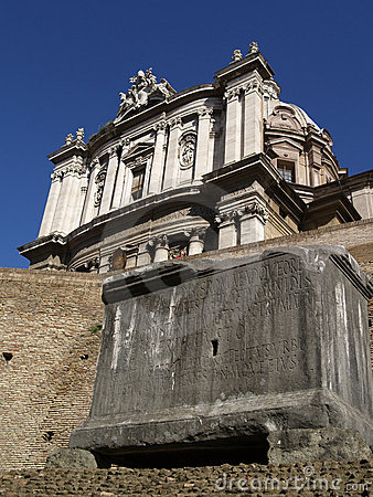 Free Ruins Of An Ancient Roman Forum Royalty Free Stock Image - 6480136