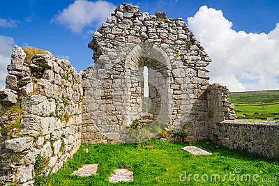Ruins of old abbey in Co. Clare