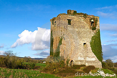 Ruins of old castle near Limerick