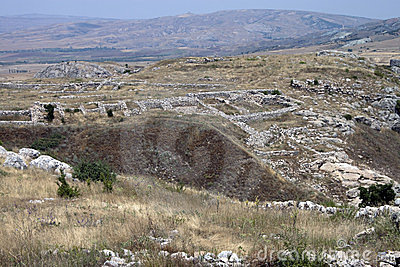 Ruins of old Hittite capital Hattusa