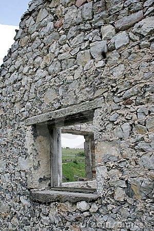 Ruins of old stone house