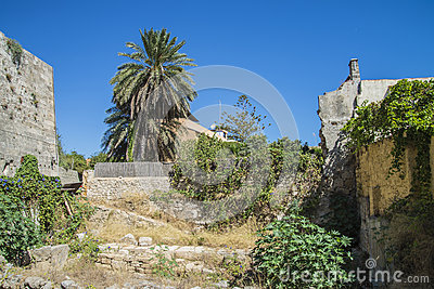 Ruins in the old town of rhodes