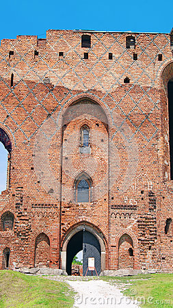 Ruins of Ordensburg castle (Radzyn Chelminski, Poland)