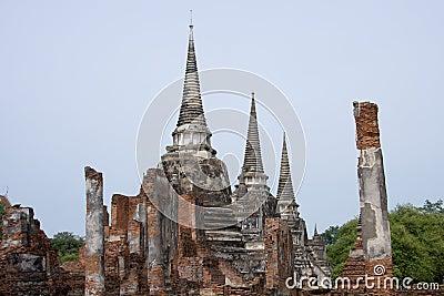 Ruins of Pagodas, Ayutthaya, Thailand