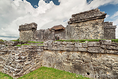 Ruins of palace temple in Tulum