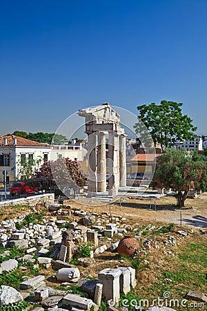 Ruins in Plaka area