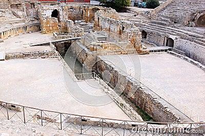 Ruins of Roman Amphitheatre in Tarragona, Spain