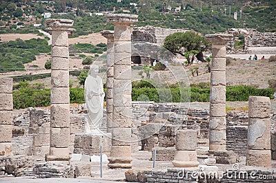 Ruins Roman of Baelo Claudia in Bolonia beach