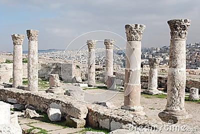 Ruins of the Roman Citadel in Amman