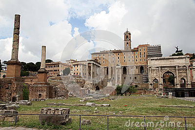 Ruins Of Roman Forum In Rome Stock Photo - Image: 28895070
