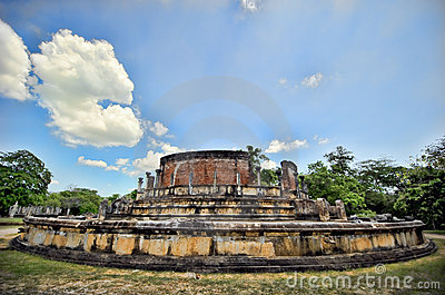 Ruins at royal complex in Sri Lanka
