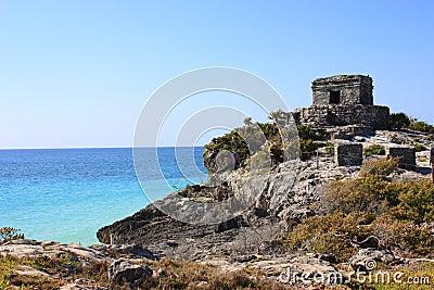 Ruins and sea
