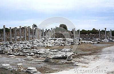 Ruins in Side, Turkey