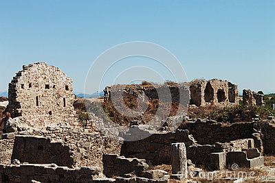 The ruins from Side