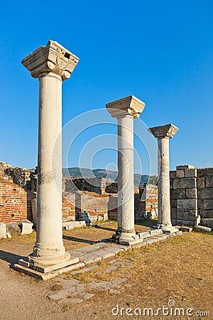 Ruins of st. Johns Basilica at Ephesus Turkey