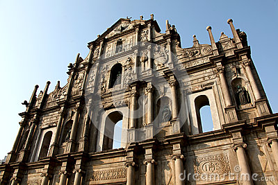 Ruins of st paul cathedral