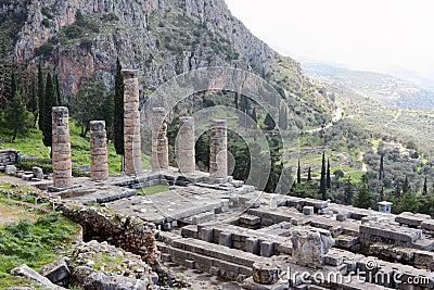 The Ruins of Temple of Apollo, Delphi